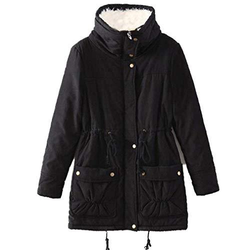 Prodotto Coreana Sciolto Classiche Plus Giaccone Invernali Addensare Moda Casuale Manica Donne Schwarz Calda Giacca Outerwear Eleganti Donna Cappotti Di Lunga Collo 1paXgq4