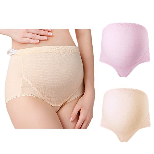 Common Women's Adjustable Maternity Underwear Panties Support Seamless Pregnancy Briefs Cotton 2pcs Pack