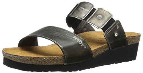 NAOT Women Ashley Wedge Sandal Metal