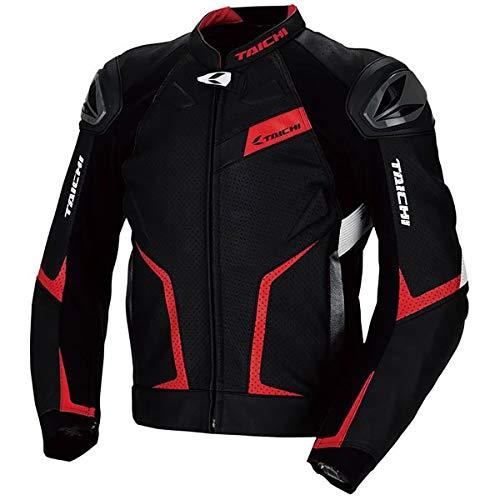 RS Taichi GMX Arrow Leather Jacket - RSJ832 (54 Euro/XX-Large) (Black/Red)