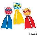 Fun Express Superhero Swirl Pop Set - 12 Pieces