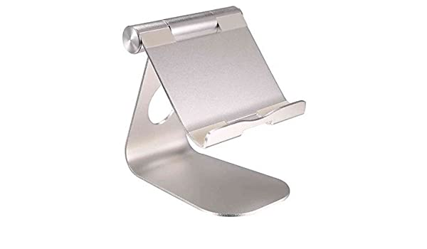 XIE@ Tablet PC /& Mobile Phone Stand Holder 270 Degree Rotate Aluminum Alloy Desktop Lazy Support Folding Detachable Bracket Durable silver