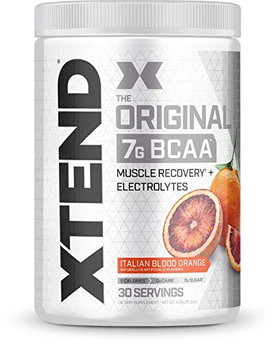 Scivation Xtend BCAA Powder, 7g BCAAs, Branched Chain Amino Acids, Keto Friendly, Italian Blood Orange, 30 Servings