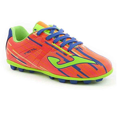 Joma Tactil Jr 708 Orange Fluor 22 Soccer Cleats (1Y) by Joma