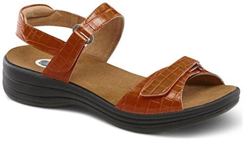 Dr. Comfort Women's Rachel Peanut Brittle Sandals by Dr. Comfort
