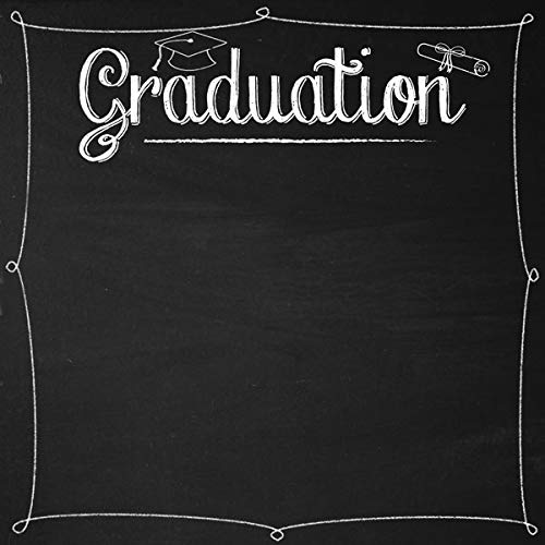 Scrapbook Customs 36554 Graduation Chalkboard 12 Inch x 12 Inch Scrapbook Paper - 1 Sheet