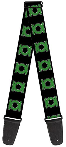 DC Comic Theme Nylon Guitar Strap - Green - Itunes Logo