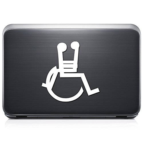 Funny Handicap Wheelchair Sex PERMANENT Vinyl Decal Sticker For Laptop Tablet Helmet Windows Wall Decor Car Truck Motorcycle - Size (10 Inch / 25 Cm Tall) - Color (Gloss Black) by GottaLoveStickerz