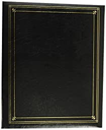 Pioneer Photo Albums 3-Ring Bound Black Leatherette Cover with Gold Accents Photo Album for 4 by 7-Inch, 5 by 7-Inch, and 8 by 10-Inch Prints