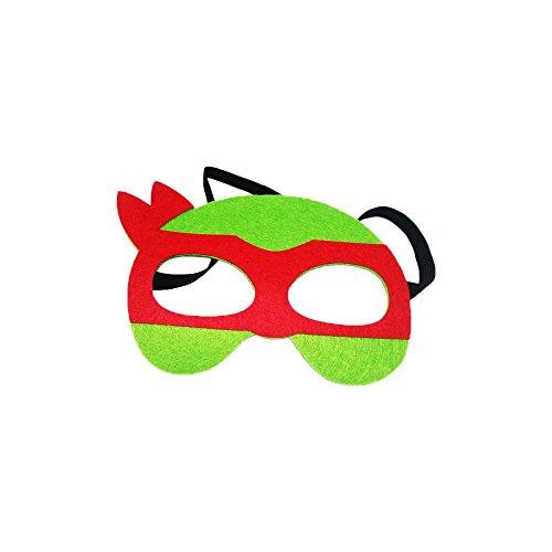 Teenage Mutant Ninja Turtles Raphael Cartoon Kids Costume Felt Mask by Superheroes Brand