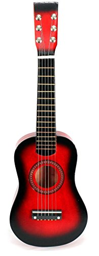 - Acoustic Classic Rock 'N' Roll 6 Stringed Toy Guitar Musical Instrument w/ Guitar Pick, Extra Guitar String (Red)