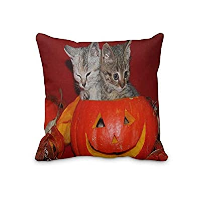 MARKDCK666 Holiday Halloween Throw Pillow Case Décor Pillow Cushion Covers Square 20' x 20' Inch (Twin Sides)