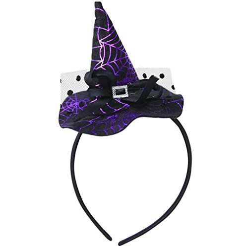 Halloween Witch Hat, Bolayu Spider Party Cap Props Headbands Accessories (E) - Baby Broom Costume