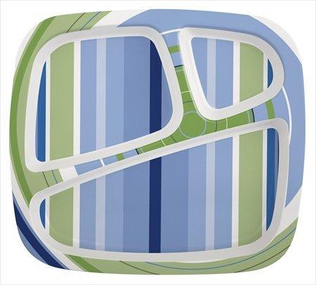 Zak Design Hampton 6569-0010 3-Section Plate, Pack Of 6