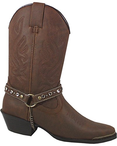 6079 Smoky Harness Women's Boot Charlotte Brown Mountain Cowgirl Pointed Toe 1cq1HAaRB
