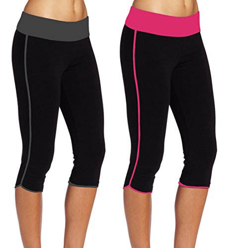 ABUSA de compresión medias de Fitness para mujer pantalones de yoga #148 Rose Red Grey