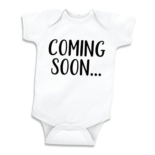 Surprise Pregnancy Announcement Grandparents, Coming Soon (0-3 Months) Black ()