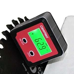 GemRed 82412 Backlight Digital Level Box Protractor Angle Finder Level Gauge Bevel Gage Inclinometer Magnetic Base (82412 Angle gauge)