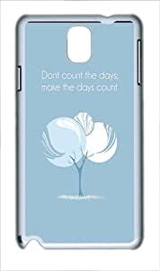 Galaxy Note 3 Cases, Samsung Galaxy SV Covers Quote Days Count Polycarbonate Plastic Hard Case Cover for Samsung Galaxy Note 3 Note III N9000 White