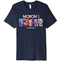 Mens Funny Anti Trump Shirt Hate Donald Tshirt Men Women Tee Kids 3XL Navy