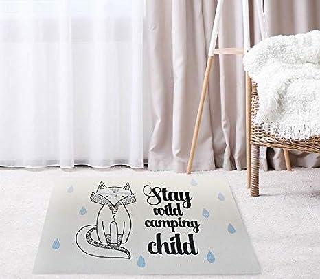 Tapis de Jeu pour Chambre denfant 60x90 cm Chambre de b/éb/é Cadeau pour b/éb/é Cadeau pour Enfant Moquette LUUK LIFESTYLE Tapis avec Motif Animalier