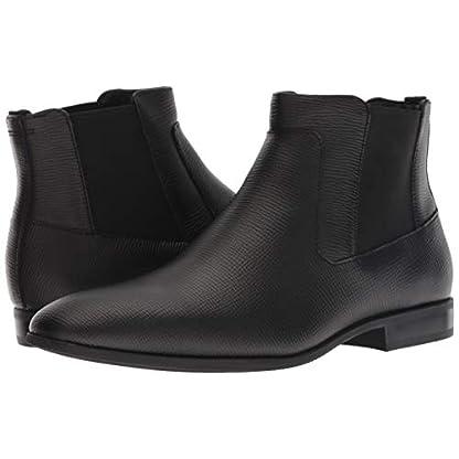 Calvin Klein Men's Christoff Epi Leather Chelsea Boot, Medium 7