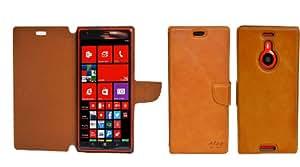 Perfect Case ® Stil Better CALIDAD SUPERIOR original cuero Wallet Case para Nokia Lumia 1520 - Marrón