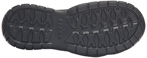 Crocs Men's Swiftwater Leather Moc Flat Espresso/Black really online 1qsVRJ