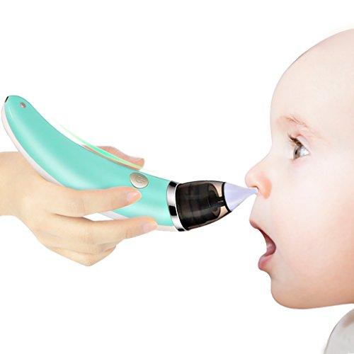 Aspirador Nasal Para Bebés Limpiador De Nariz Eléctrico 5 Ajuste De Engranajes Seguro Rápido Limpiador De Nariz Suave...