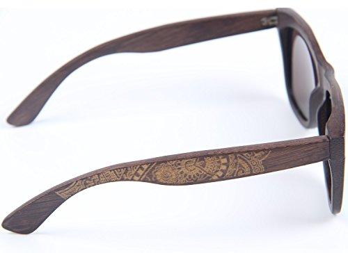 marco sol mujer lleno madera gafas revestidas gafas de bambú para flotantes de de de de de caja vintage Gafas y para clásico bambú bambú con Azul sol hombre polarizado LY4U dxngAwdT