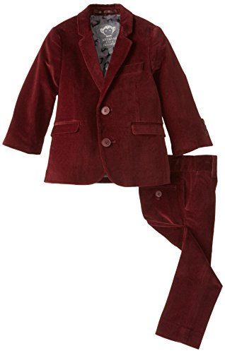 Appaman Boy's Two Piece Classic Mod Suit, Velvet Maroon, 4 by Appaman