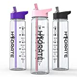 HYDRATE Motivational Bottle(Pink)
