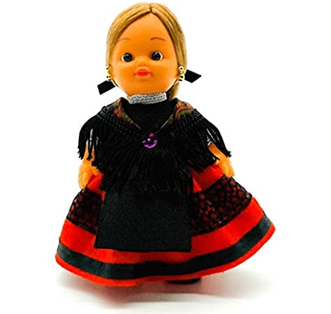 Amazon.es: Folk Artesanía Muñeca Regional colección de 15 cm con Vestido típico Alcarreña La Alcarria Guadalajara España.: Juguetes y juegos