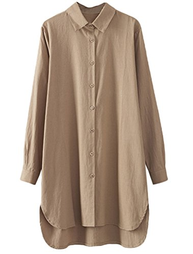 khaki blouse dress - 9