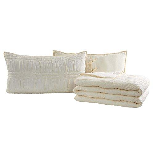 earl White King Set; Quilt 95x105-2 Shams 21x37 (Magnolia Comforter Set)