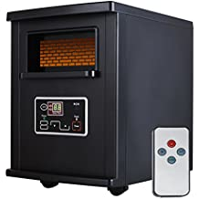 SUNCOO Infrared Quartz Electric Space Heater with W/Remote Control Portable (Black/1000-Watts)