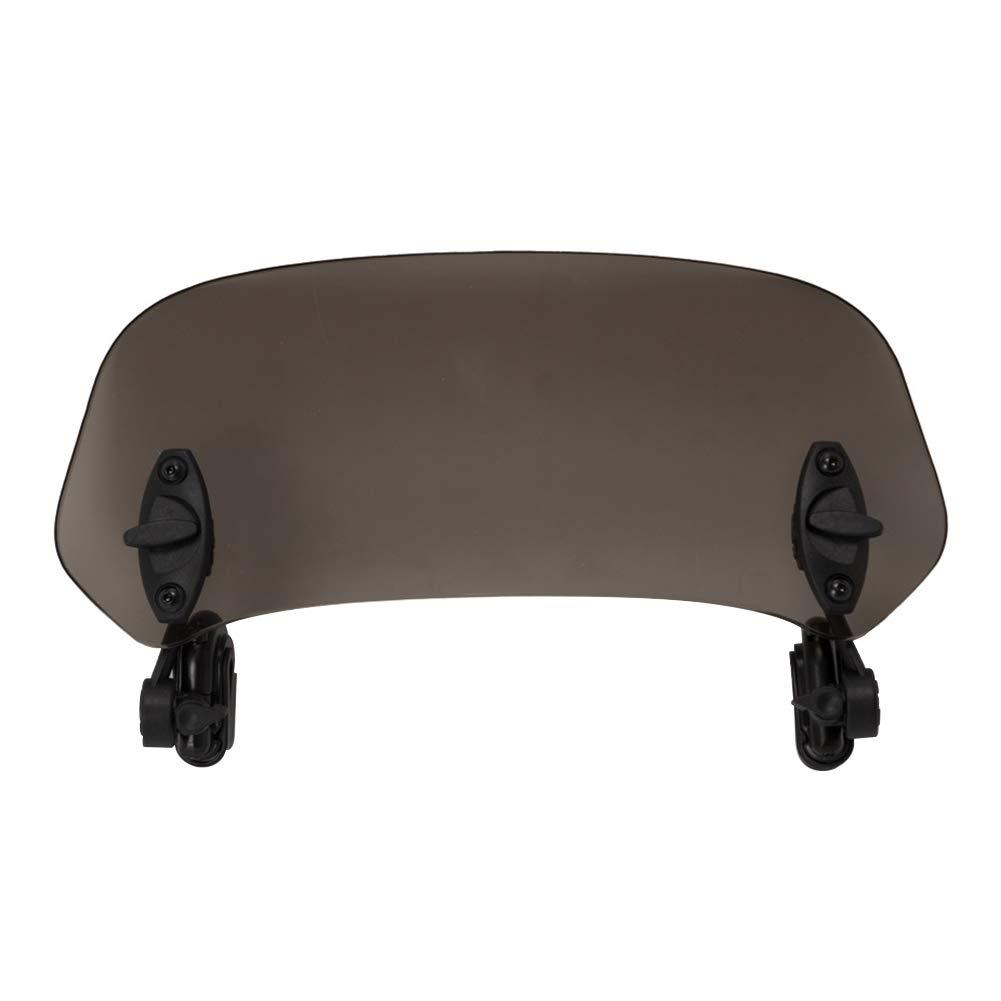 Pour moto Angle r/églable /à clipser Pour pare-brise D/éflecteur de vent universel pour moto /Étanche Transparent gris