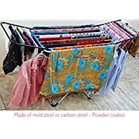 Celebrations Fast Dry Cloth Dryer Stand - Sturdy and Sleek Folding Clothes Drying Stand for Drying All Kinds of Indian attires(Silver)