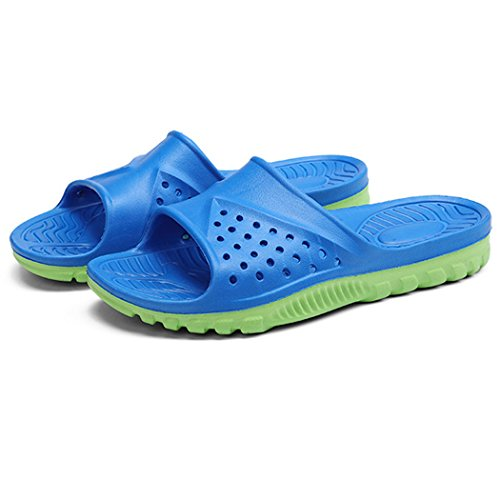 Badezimmer Hausschuhe, outgeek 1 Pair Startseite Sandalen Anti Rutsch EVA Bad Hausschuhe für Männer Blue And Green