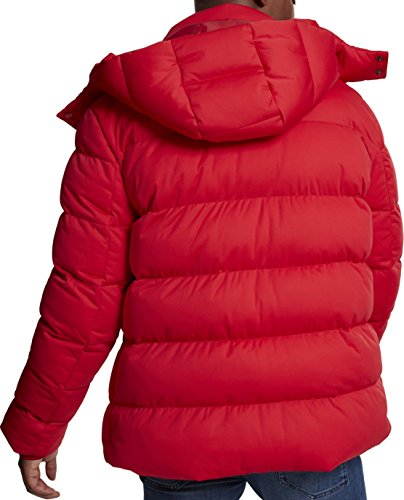Puffer 00697 Boxy Jacket Classic fire Cappotto Urban Red Hooded Uomo Rosso wqUvPRUtEx