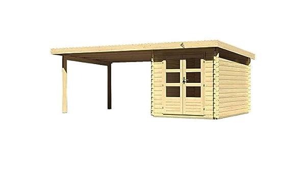 Karibu Wood Feeling Jardín Casa bastrup 4 con arrastre techo 4 metros: Amazon.es: Jardín
