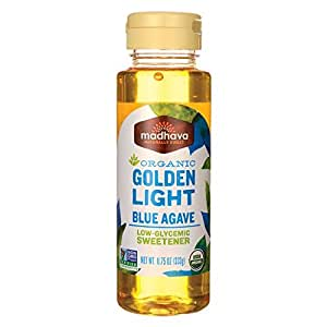 Madhava Organic, Golden Light Blue Agave, Neutral Mild Flavor, 11.75 oz