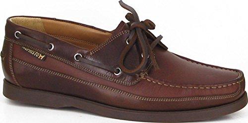 Mephisto hommes en cuir de dentelle Bateau Chaussures bateau marron