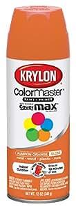 Krylon 52411 Pumpkin Orange Interior and Exterior Decorator Paint - 12 oz. Aerosol