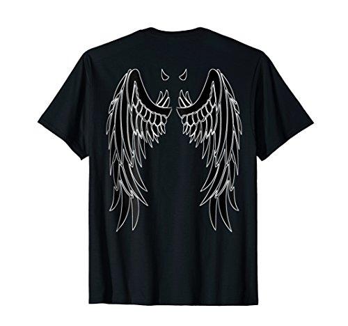 Devil Black Wings & Horn   Back of Shirt Design -