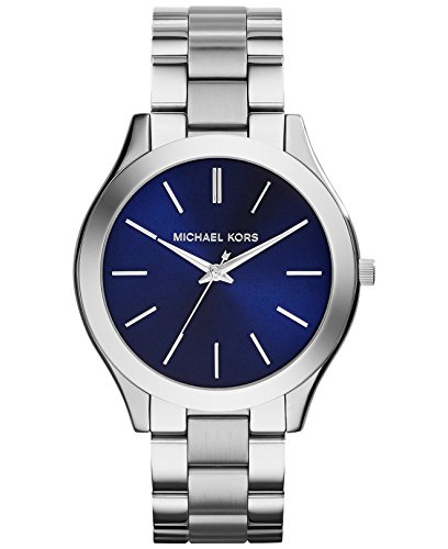 Michael Kors MK3379 Slim Runway Silver Stainless Steel Bracelet Watch 42mm Women's Watch (Slim Runway Stainless Steel Watch)