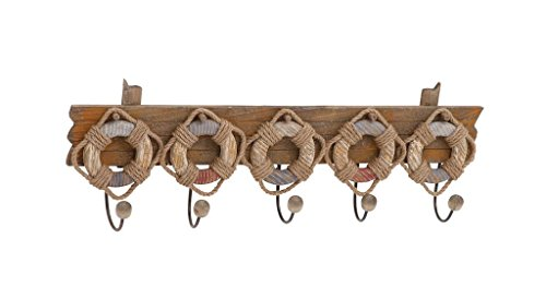 Deco 79 78767 Wood & Metal Lifebelt Hook