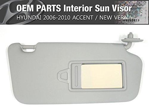 Amazon.com  OEM Interior Sun Visor Right Gray 1EA for HYUNDAI 2006 - 2010  Accent   New Verna  Automotive ab6cdd77740