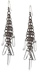 "Deanna Hamro Atelier ""Woven Mesh"" Rock Crystal Drop Earrings"