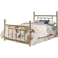 Hillsdale Furniture 1038BQR2 Chelsea Bed Set with bed frame,  Queen, Classic Brass